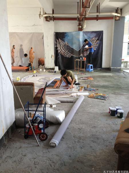 深圳3D壁畫、3D地畫、3D街頭地畫、手繪壁畫