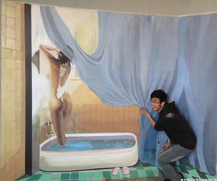 深圳3D壁畫 3D立體地畫 手繪壁畫、手繪3D壁畫