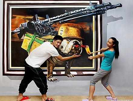 深圳3D壁畫、3D地畫、手繪3D壁畫