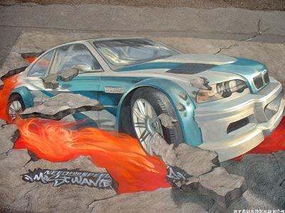 車展3D地畫,3D街頭地畫,3D立體地畫