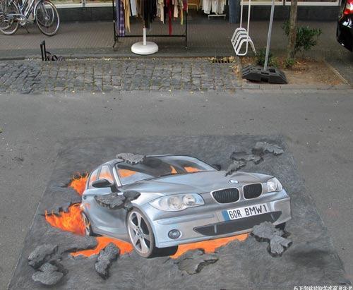 車展3D地畫,3D立體地畫