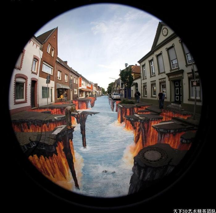 3D地畫,3D街頭地畫,3D壁畫