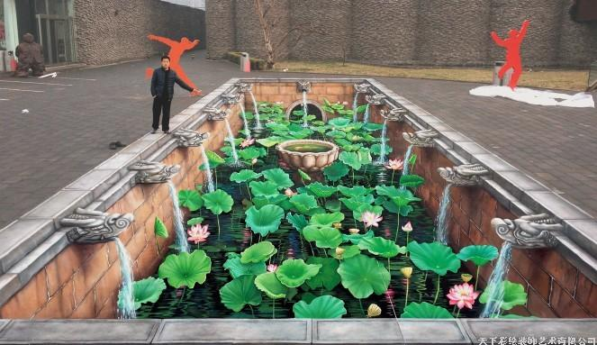 3D地畫,3D街頭地畫,3D立體畫,3D壁畫